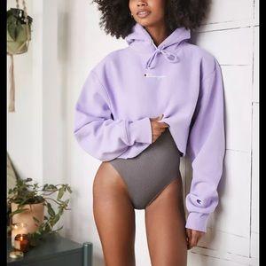 Champion Purple Cropped Hoodie